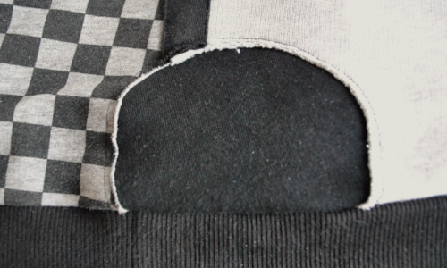 Pullover reparieren Negativflicken