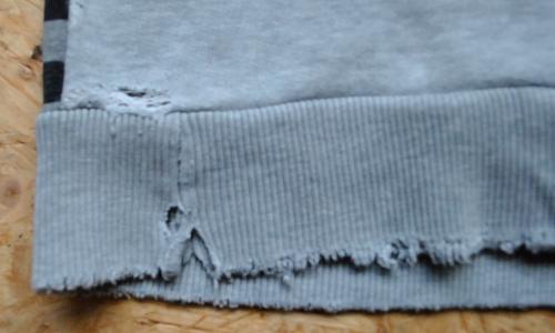 Pulloverr Saumbündchen reparieren