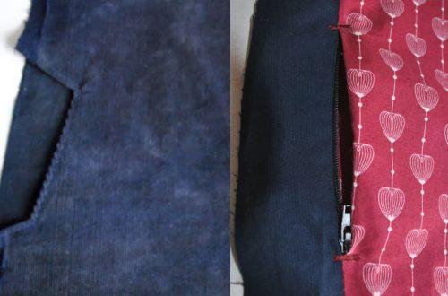 Nahttaschen in zwei Varianten